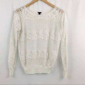 Ann Taylor Lace Sweater S